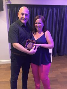 Gareth and Mandy award